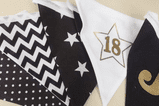 Personalised Hand Made Fabric Birthday Bunting GOLD